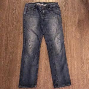 LOFT Jeans - Ann Taylor Loft size 28/6 modern straight jeans